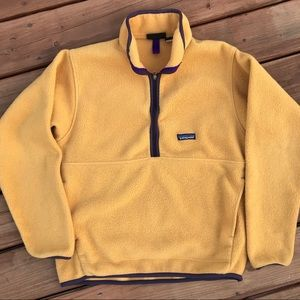 Patagonia synchilla pullover yellow purple